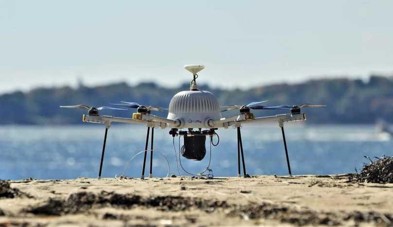 Drone afet bölgesi çekimi
